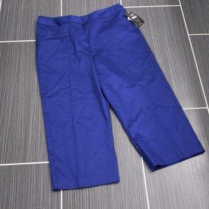 Blue Slimming Capri Pants Size 12 NWT